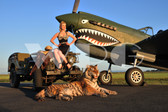 """Karolina"" with the P-40 Warhawk"