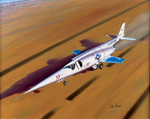 Lakebed Liftoff by Mike Machat. The Douglas X-3 Stiletto