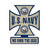 Navy Iron Cross Metal Sign