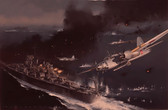 Ordeal of the USS Houston - Original Oil Painting