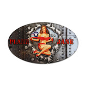 Plane Jane Oval Metal Sign