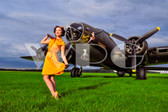 """Paige"" with the B-17 Flying Fortress"