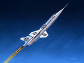 Stairway to Heaven by Mike Machat. Modified NF-104 Starfighter