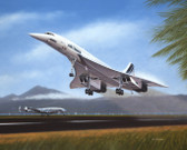 Tahiti Takeoff by Mike Machat - Air France Concorde