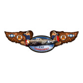 Thunderbolt Winged Oval Metal Sign