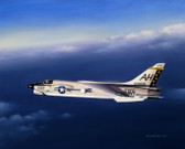 Twilight Gator by Mike Machat - Vought F-8 Crusader