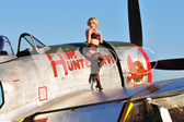 """Tammy"" with the P-47 Thunderbolt"