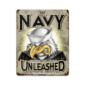 USN Unleashed Metal Sign