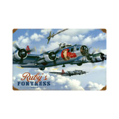 Rubys Fortress Vintage Metal Sign (STK050) Aviation Art