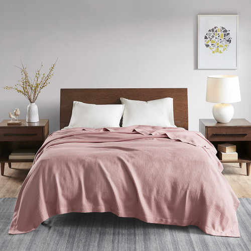 Rose Pink TWIN Certified Egyptian Cotton Blanket (086569220660)