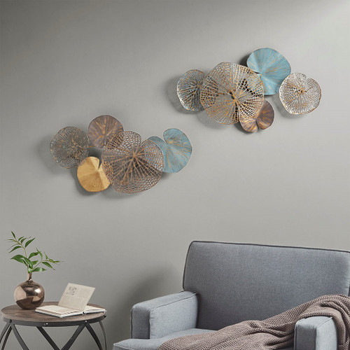 "2pc Multi Color Lenzie Wall Art Decor 26x15"" Each (086569301062)"