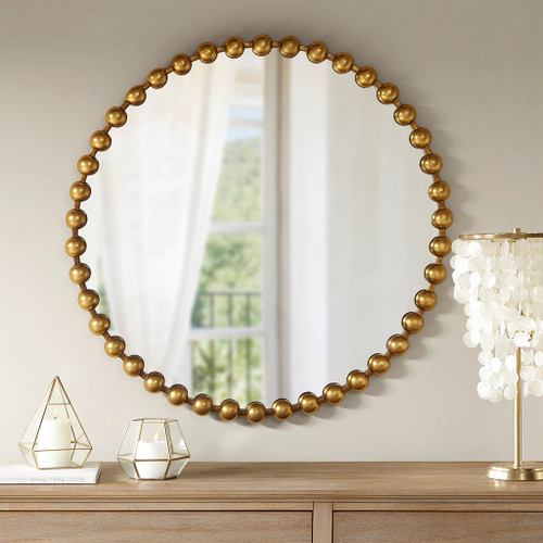 "Modern Gold Marlowe Wall Decor Mirror 36x36"" (675716954123)"