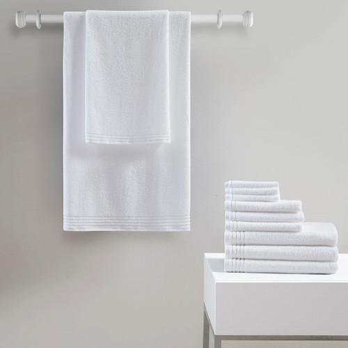 White 12pc Cotton Bath Towel Set