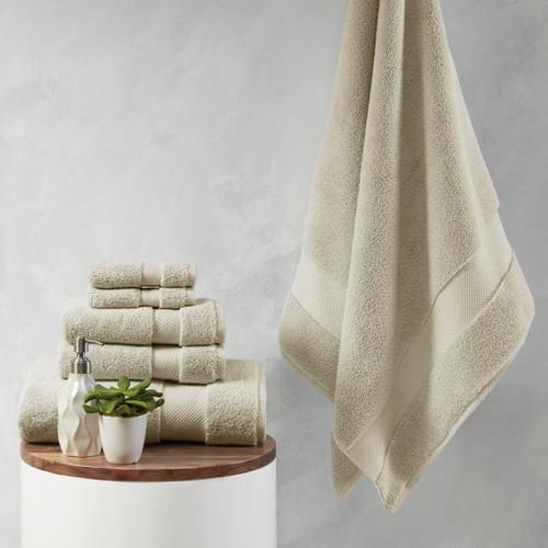 6pc Taupe 1000gsm 100% Cotton Towel Set (086569205179)
