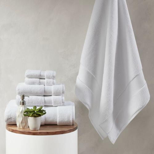 6pc White 1000gsm 100% Cotton Towel Set (086569205155)