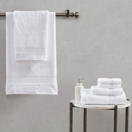 6pc White 100% Egyptian Cotton Towel Set (086569197788)