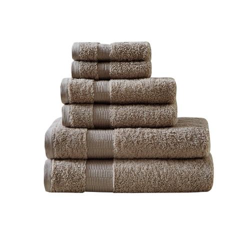 6pc Taupe 100% Egyptian Cotton Towel Set (086569197887