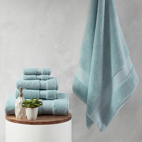 6pc Blue 1000gsm 100% Cotton Towel Set (086569205148)