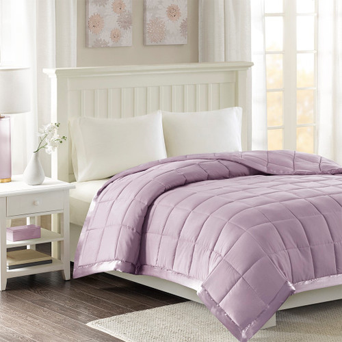Year Round Lilac Purple Microfiber Down Alternative Blanket w/3M Scotchgard (Windom-Lilac)