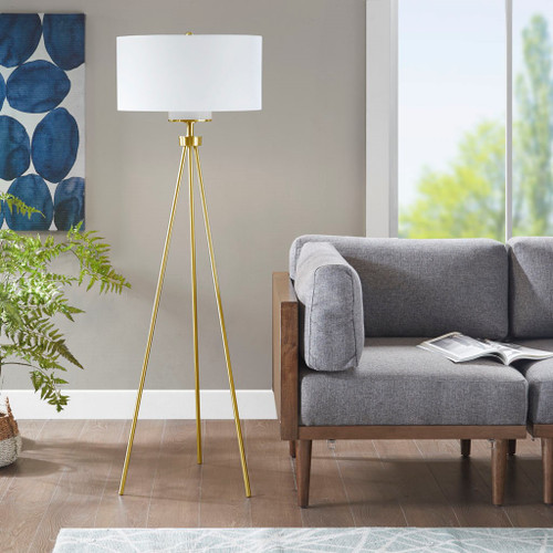 Pacific Tripod Gold Floor Lamp (Pacific Tripod Gold-Lamp)