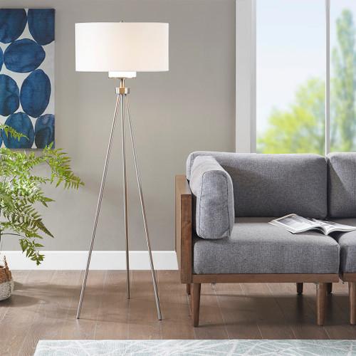 Pacific Tripod Silver Floor Lamp (Pacific Tripod Silver-Lamp)