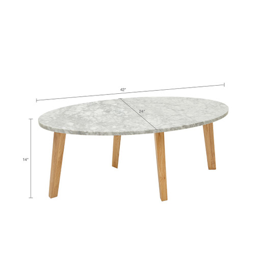 Milo White Coffee Table (Milo White-Coffee Table)