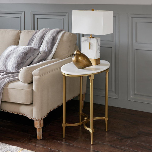 Bordeaux White Gold End Table (Bordeaux White Gold-End Table)