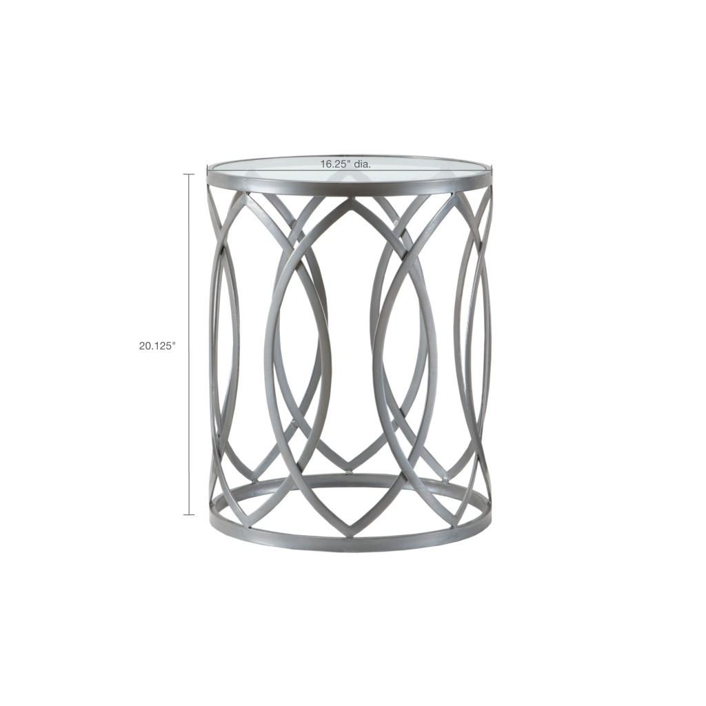 Arlo Metal Eyelet Grey Accent Table (Arlo Metal Eyelet Grey-Accent Table )