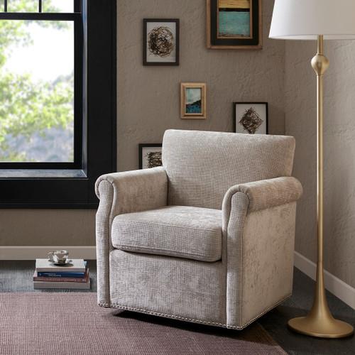 Aldrich Cream Swivel Chair (Aldrich Cream-Swivel Chair)