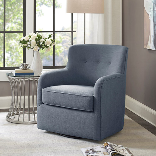 Adele Blue Swivel Chair (Adele Blue-Swivel Chair)