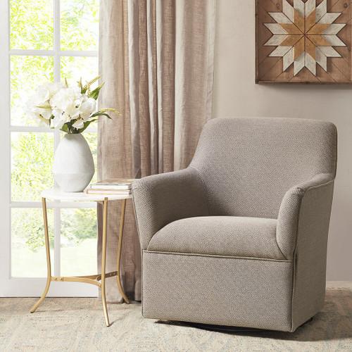 Augustine Grey Swivel Glider Chair (Augustine Grey-Swivel Glider Chair )