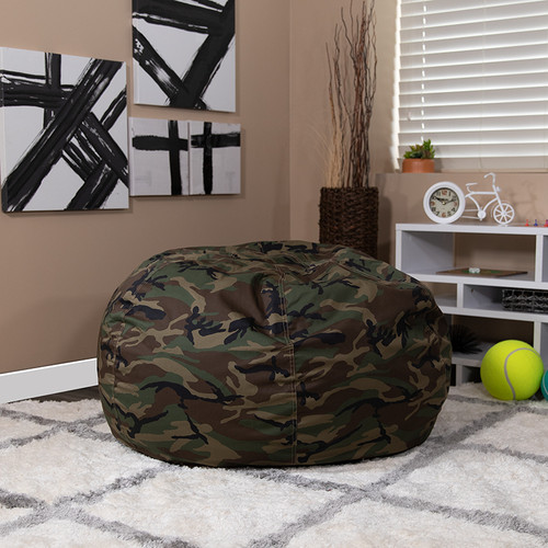 Oversized Camouflage Bean Bag Chair for Kids & Adults