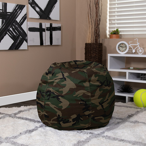 Small Camouflage Bean Bag Chair for Kids & Teens