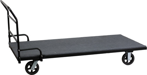 Folding Table Dolly w/Carpeted Platform for Rectangular Tables