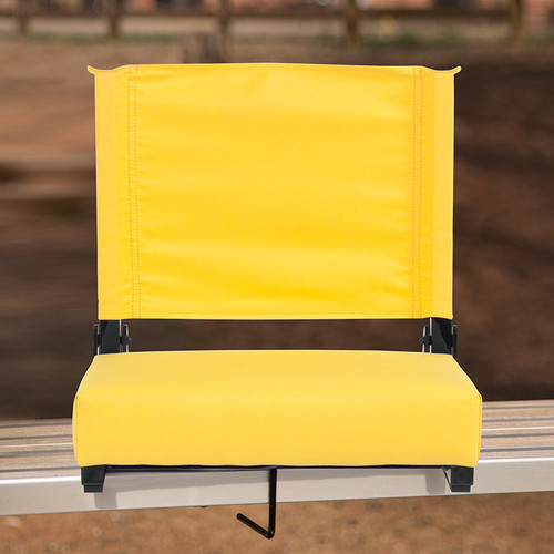 Grandstand Comfort Seats by Flash w/500 LB. Weight Capacity Lightweight Aluminum Frame & Ultra-Padded Seat in Yellow