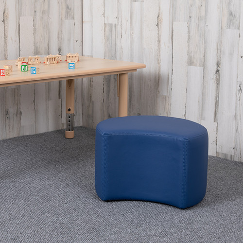 """Soft Seating Collaborative Moon for Classrooms & Daycares - 12"""" Seat Height (Blue)"""