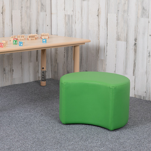 """Soft Seating Collaborative Moon for Classrooms & Daycares - 12"""" Seat Height (Green)"""
