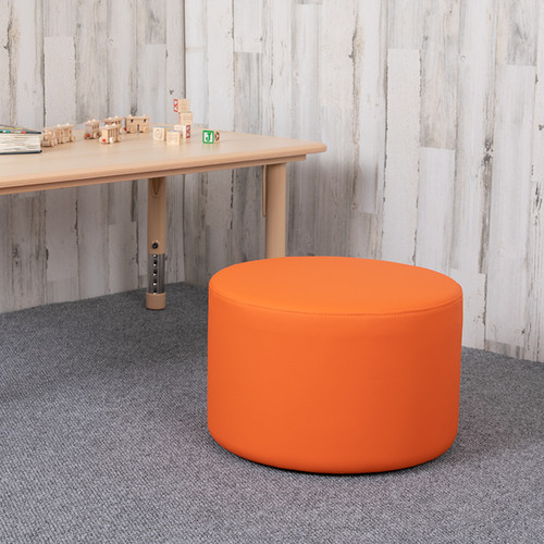 """Soft Seating Collaborative Circle for Classrooms & Daycares - 12"""" Seat Height (Orange)"""
