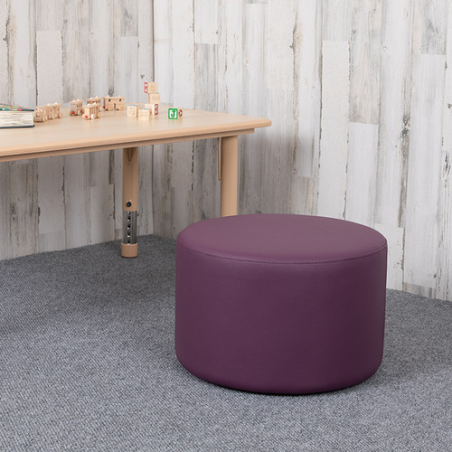 """Soft Seating Collaborative Circle for Classrooms & Daycares - 12"""" Seat Height (Purple)"""