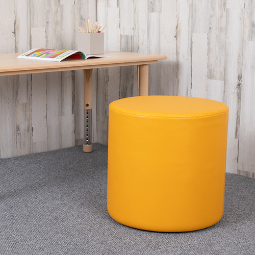 """Soft Seating Collaborative Circle for Classrooms & Common Spaces - 18"""" Seat Height (Yellow)"""