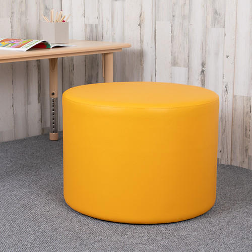 """Large Soft Seating Collaborative Circle for Classrooms & Common Spaces - Yellow (18"""" Height x 24"""" Diameter)"""