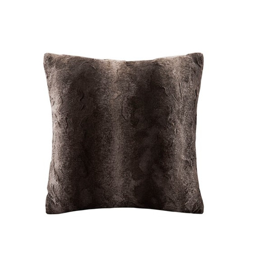 Zuri Faux Brown Square Pillow (Zuri Faux Brown-Square Pillow )