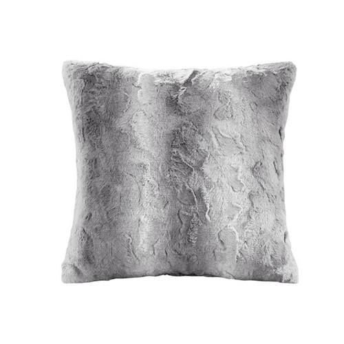 Zuri Faux Grey Square Pillow (Zuri Faux Grey Square-Pillow)