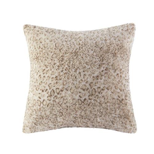 Zuri Faux Leopard Fur Square Pillow (Zuri Faux Leopard-Fur Square Pillow)