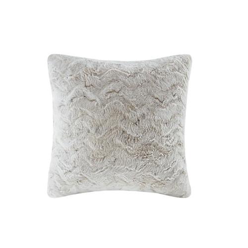 Zuri Faux Snow Leopard Fur Square Pillow (Zuri Faux Snow Leopard Fur-Square Pillow)