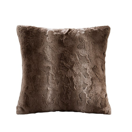 Zuri Faux tan Square Pillow (Zuri Faux Tan-Square Pillow)