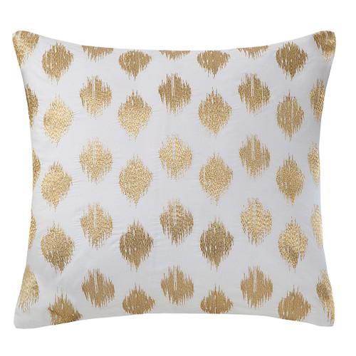 Nadia Dot Metallic Gold Embroidery Pillow (Nadia Dot Metallic Gold-Embroidery Pillow)