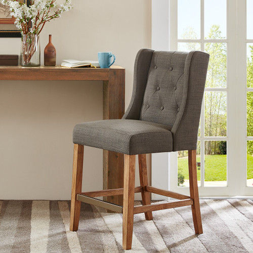 Cleo Charcoal Counter Stool (Cleo Charcoal-Counter Stool)