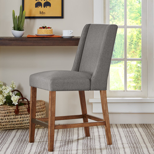 Brody Wing Grey Counter Stool (Brody Wing Grey-Counter Stool)