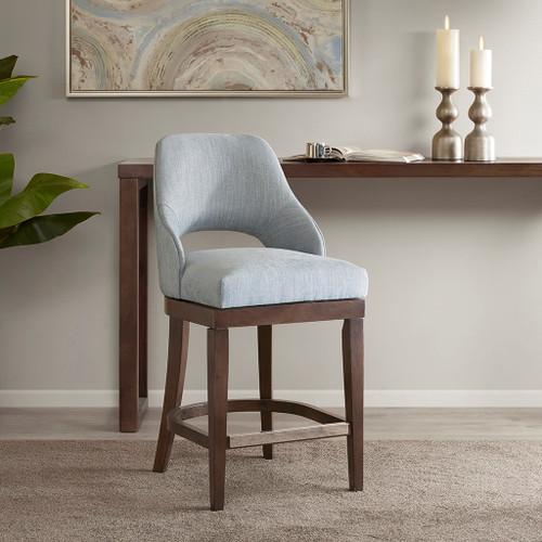 Jillian Counter Stool With Blue Swivel Seat (Jillian Counter Stool With Blue-Swivel Seat)